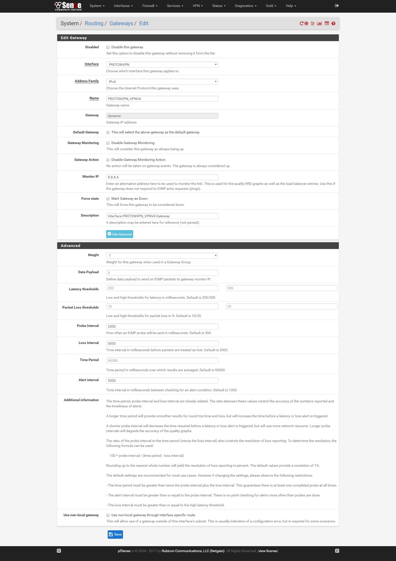 Using ProtonVPN on pfsense – Matya's Blog