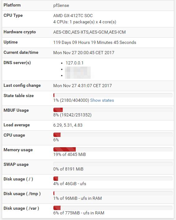 APU Status screenshot